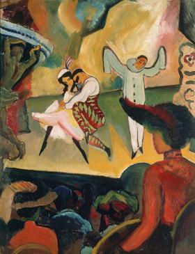 August Macke: Russisches Ballett I