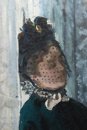 Claude Monet: Das Mittagessen (Le Déjeuner). Detail. 1868 (siehe auch Bildnummer 4200)