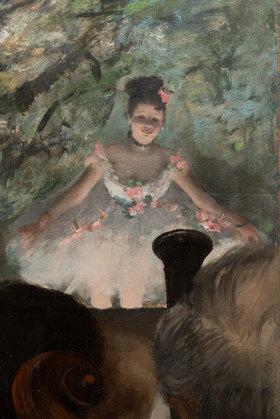 Edgar Degas: Musiciens à l'Orchestre. Detail