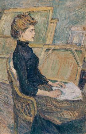Henri de Toulouse-Lautrec: Junges Mädchen im Atelier (Hélène Vary)