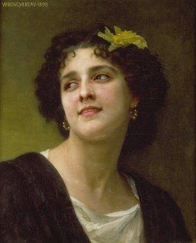 William Adolphe Bouguereau: Dunkelhaarige Schönheit