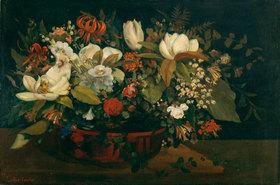 Gustave Courbet: Blumenschale (Magnolien)