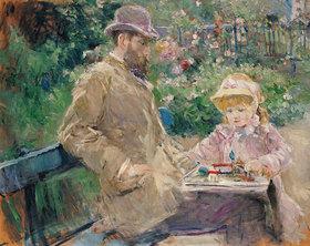 Berthe Morisot: Eugène Manet mit seiner Tochter in Bougival