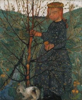 Paula Modersohn-Becker: Bauernkind mit Kaninchen
