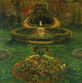 Heinrich Vogeler: Blumenbeete im Garten des Künstlers