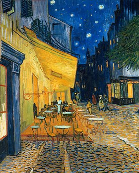 Vincent van Gogh: Caf�-Terrasse am Abend (Le Caf�, le soir). 1888