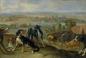 Jan van Kessel: Randbild Köln aus der Tafel Europa (Zyklus 'Die vier Erdteile')