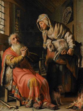 Rembrandt van Rijn: Tobit beschuldigt Anna