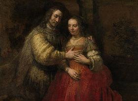 Rembrandt van Rijn: Isaak und Rebekka, Die Judenbraut