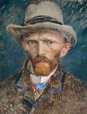 Vincent van Gogh: Selbstbildnis mit grauem Filzhut