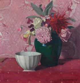 Felix Vallotton: Grüne Vase und weiße Schale