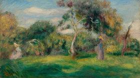 Auguste Renoir: Pré, arbres et femmes