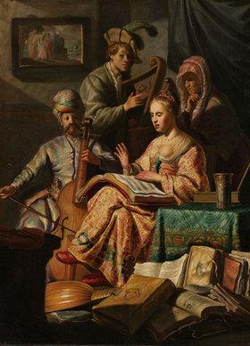 Rembrandt van Rijn: Musizierende Gesellschaft