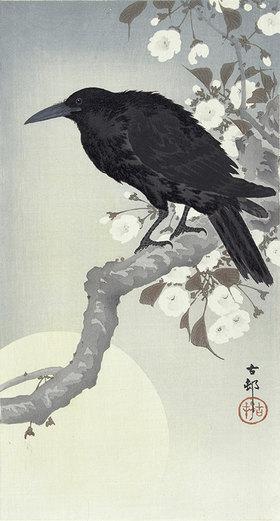 Ohara Shôson: Krähe bei Vollmond