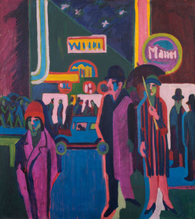 Ernst Ludwig Kirchner: Straßenszene bei Nacht