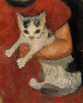 Paula Modersohn-Becker: Katze in einem Kinderarm