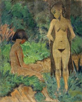 Otto Müller: Badende unter Bäumen
