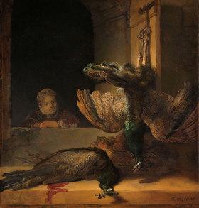 Rembrandt van Rijn: Stillleben mit Pfauen