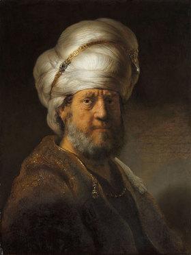 Rembrandt van Rijn: Mann in orientalischem Kostüm