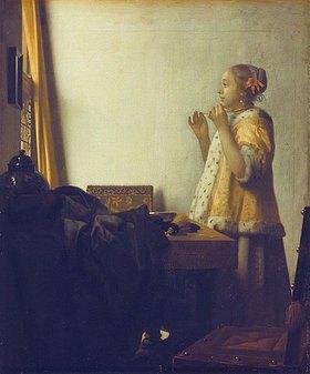 Jan Vermeer van Delft: Junge Dame mit Perlenhalsband
