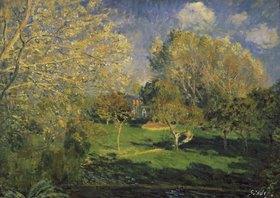 Alfred Sisley: Der Garten von Monsieur Hoschedé in Montgeron