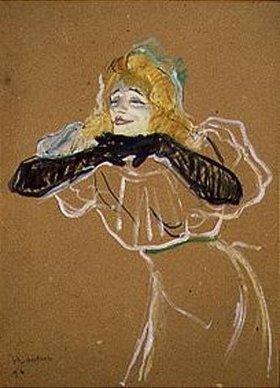 Henri de Toulouse-Lautrec: Die Chanteuse Yvette Guilbert singt Linger Longer Loo