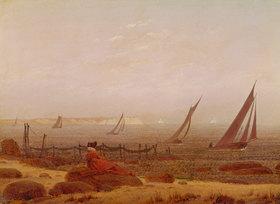 Caspar David Friedrich: Frau am Meer