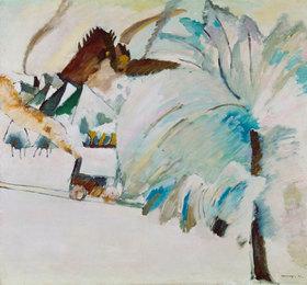 Wassily Kandinsky: Winterlandschaft mit Lokomotive