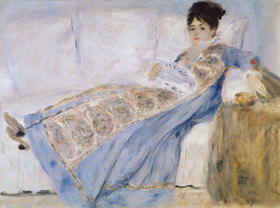 Auguste Renoir: Madame Monet auf dem Sofa