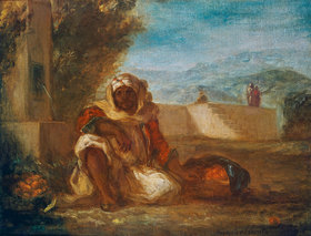 Eugene Delacroix: Orangenverkäufer in Marokko