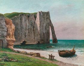 Gustave Courbet: (La falaise d´ Étretat)