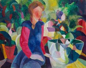 August Macke: Mädchen mit Fischglas