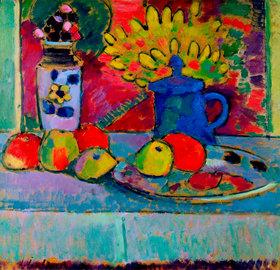 Alexej von Jawlensky: Stillleben mit Blumen und Früchten