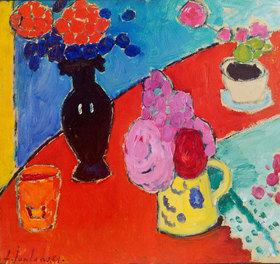 Alexej von Jawlensky: Stilleben mit Vase und Krug
