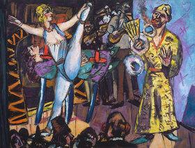 Max Beckmann: Großes Variete mit Zauberer und Tänzerin (1942)