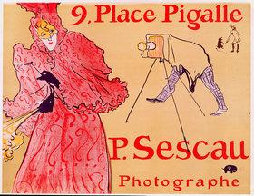 Henri de Toulouse-Lautrec: 9. Place Pigalle - P. Sescau, Photographe