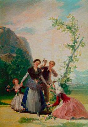 Francisco José de Goya: Die Blumenmädchen oder Frühling