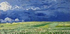 Vincent van Gogh: Weizenfeld unter einem Gewitterhimmel