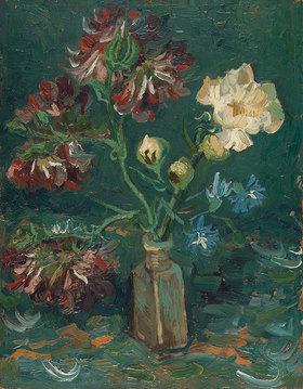 Vincent van Gogh: Flasche mit Pfingstrosen und Rittersporn