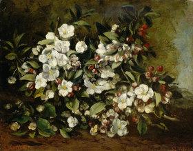 Gustave Courbet: Blühender Apfelzweig, auch: Kirschblüten