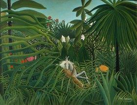 Henri Rousseau: Ein Jaguar greift ein Pferd an