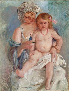 Lovis Corinth: Mutter und Kind (Charlotte Corinth und Wilhelmine)