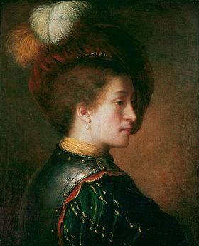 Rembrandt van Rijn: Mann mit Federhut