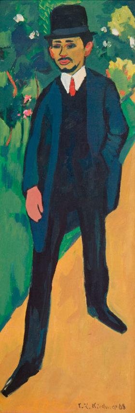 Ernst Ludwig Kirchner: Bildnis Erich Heckel. 1910 / nach