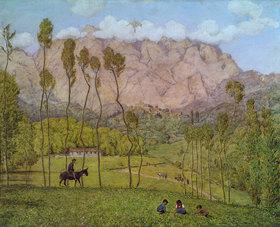 Hans Thoma: Landschaft bei Carrara