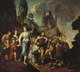 Stefano Catani: Henriette Adelaide als Diana (oder: Allegorie auf die Kurfürstliche Familie)