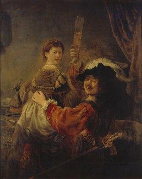 Rembrandt van Rijn: Selbstbildnis mit Saskia