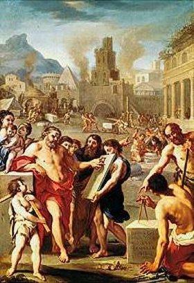 Französischer Maler: Kain gründet eine Stadt, die er nach seinem Sohne Enoch benennt