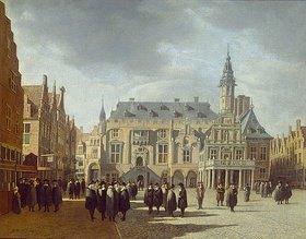 Gerrit Adriaensz Berckheyde: Der Marktplatz und das Rathaus von Haarlem