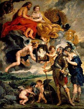 Peter Paul Rubens: Aus dem Medici-Zyklus: Heinrich IV. empfängt das Bild der Maria Medici